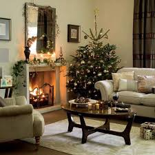 fireplace inspiring christmas mantel decorations with beige rug