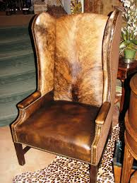 White Leather Wingback Chair Ooo La La What A Great Idea For The Chair I Want To Re Upholster