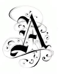 calligraphy letter a designs search lettering