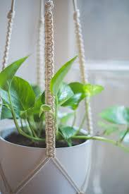 easy home diy macrame plant hanger tutorial macrame plant