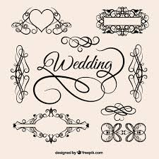 vintage wedding ornaments vector free