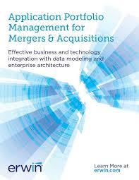application portfolio management for mergers u0026 acquisitions