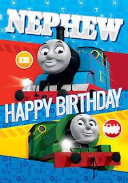 thomas the tank engine birthday card nephew funky pigeon