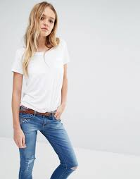 Hollister Clothes For Girls Exclusive Hollister Drapey Easy Pocket T Shirt Women White T