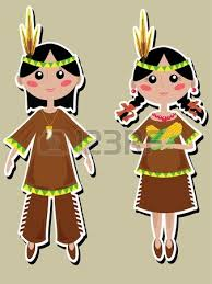 thanksgiving indians royalty free cliparts vectors and