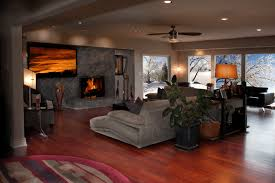 Hardwood Floor Living Room Hardwood Floors Modern Living Room Wichita By Great