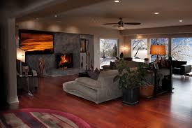 Hardwood Floor Living Room Hardwood Floors Modern Living Room Wichita By Great