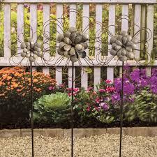 metal flower garden stakes garden stakes yard decor outdoor decor moocowmeadows