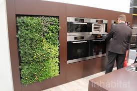 miele brings a green walled kitchen and massive herb garden to the