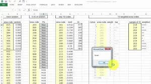 Area Code 207 Excel Vba For Random Sampling Youtube