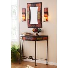hallway table and mirror sets albuquerque spice console set of 4 consoles front hallway and foyers