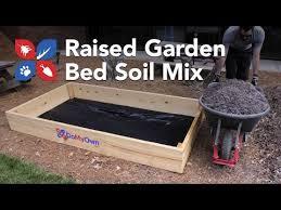 do my own gardening raised garden bed soil mix ep2 youtube