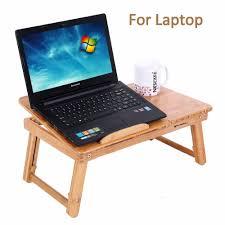 aingoo 100 bamboo laptop standing desk foldable breakfast serving