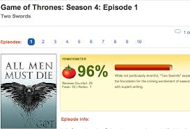 Seeking Rotten Tomatoes Rotten Tomatoes To Rate Every Episode Of Of Thrones Exclusive