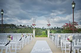 anaheim golf course wedding purple pink green and white ceremony site florals wedding
