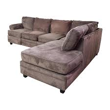 Sectional Sofas Bobs by 55 Off Bob U0027s Furniture Bob U0027s Furniture Brown Sectional With