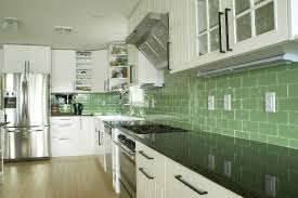 Green Subway Tile Kitchen Backsplash Supreme Glass Tiles Light - Green glass backsplash tile