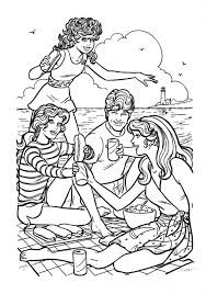 barbie beach coloring holiday vacation jpg 1121 1600 coloring