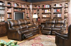 von furniture twain reclining leather living room set