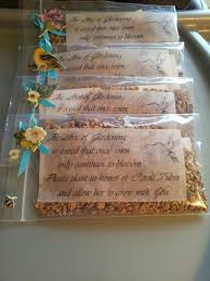 memorial ideas memorial garden seeds we made these for my in laws funeral