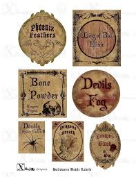 halloween decorations potion bottles witchy wine labels halloween decor harry potter potion bottles