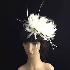 hair accessories melbourne white fascinator with feathers wedding headpiece bridal headband