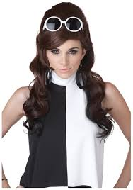 mod 60s ladies wig womens 60s costume accessories mad