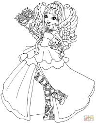 coloring pages for girls ever after high thronecoming just colorings