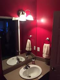 from red and dark to white and bright bathroom makeover hometalk