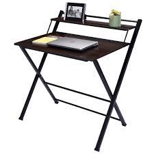 Mainstays Writing Table Foldable 2 Tier Wood Computer Desk Desks Office Furniture