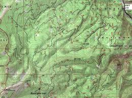 Mountain Map Little Bald Mountain Lookout Site Naches Ranger District
