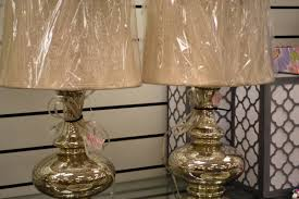 Ceramic Table Lamps For Living Room Lighting Lattice Mercury Glass Lamp With White Shade For Home