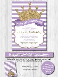 Princess Themed Invitation Card Princess Party Invitations Purple U0026 Gold Glitter Royal Party