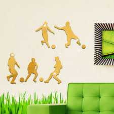 aliexpress com buy football wall mirror stickers acrylic
