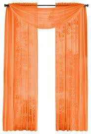 Sheer Orange Curtains 4 Styles Of Orange Sheer Curtains