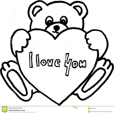drawn teddy bear heart drawing pencil and in color drawn teddy