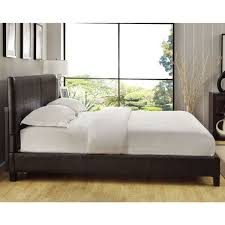 Upholstery Frame Square Platform King Or Cal King Synthetic Leather Upholstery Bed