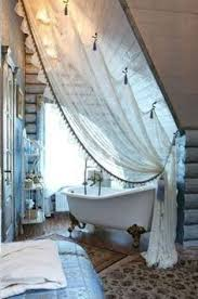 Small Attic Bathroom Sloped Ceiling by Shower Curtain Slanted Ceiling Google Search Attic Pinterest
