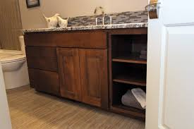 double sink vanity with middle tower affordable custom cabinets showroom