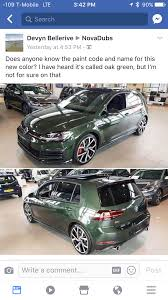 green volkswagen golf great falls green on a mark 7 5 golfgti