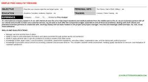Pmo Cv Resume Sample Pmo Analyst Cover Letter U0026 Resume