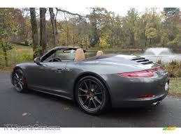 porsche agate grey 2014 porsche 911 carrera 4s cabriolet in agate grey metallic photo