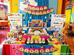 Rainbow Party Decorations Interior Design Rainbow Themed Birthday Party Decorations Home