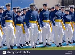 us air force academy cadets march into falcon stadium in their