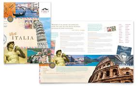 travel brochure italy italy travel brochure template design