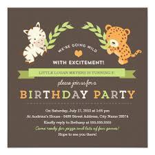 personalized jungle birthday invitations custominvitations4u com