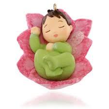 hallmark 2015 lotus and poinsettia baby messengers miniature