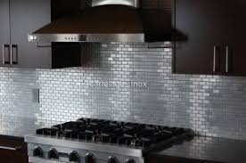 mosaique cuisine photo carrelage inox carrelage inox fr