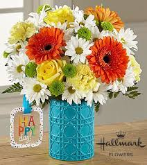 birthday bouquet the ftd happy day birthday bouquet by hallmark vase included