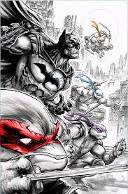batman teenage mutant ninja turtles second printing covers